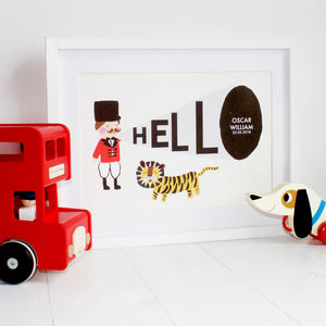 Personalised Ringmaster Print - personalised gifts for babies