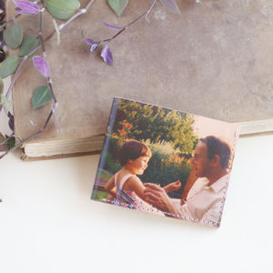Personalised Photo Printed Leather Wallet - whats new