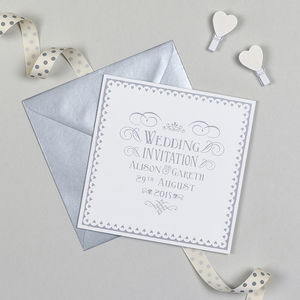 Typographic Heart Wedding Invitation