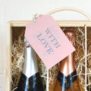 English sparkling wine selection gift tag