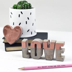 Small Concrete Colour Block Letters - home accessories