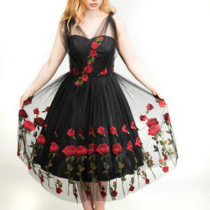 Red Rose Tulle Prom/ Special Occasion Dress