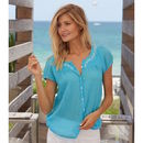 Lisbon Short Sleeved Shirt Turquoise
