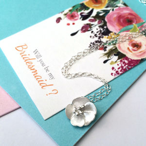 Buttercup Flower Necklace