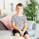 Children's Embroidered Year T Shirt Striped