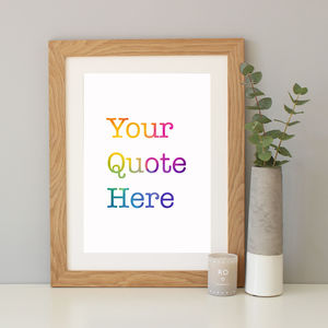Personalised Typewriter Gradient Print - sale