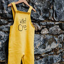 Hand Dyed 'Wild One' Children's Dungarees