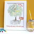 Personalised 'Class Tree' Teacher Thank You Print