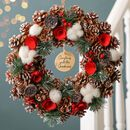 Snowbank Roses Personalised Christmas Wreath