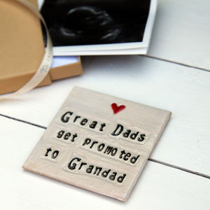 Square Grandparent Ceramic Coaster - gifts for grandparents
