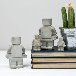 A Concrete Robot Family Gift Set