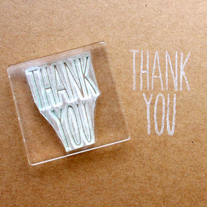 Thank You Flexi Clear Stamp - wedding stationery