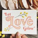 Plantable Let Love Grow Card Grows Into Wildflowers