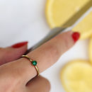 Raw Stone Stacking Ring: Emerald
