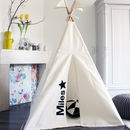 Personalised Indoor Play Teepee Midi