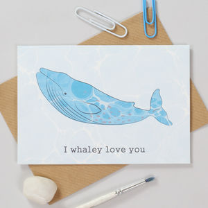 I Whaley Love You Personalised Anniversary Card - anniversary cards