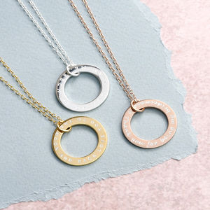 Large Personalised Family Circle Necklace - what's new