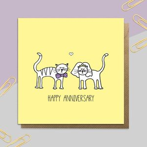 Anniversary Cats Card
