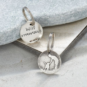 Personalised Sterling Silver Pet And Pal Dog ID Tag - dogs