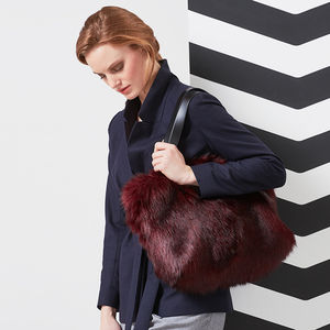 Faux Fur Kersey Tote Bag - bags & purses