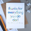 Thanks Dad | Personalised Birthday Card For Dad