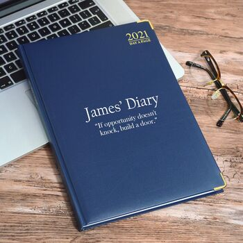 Personalised A4 Diary With Your Own Message Or Quote
