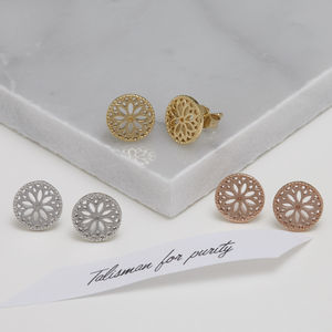 Purity Mandala Stud Earrings - gifts for her