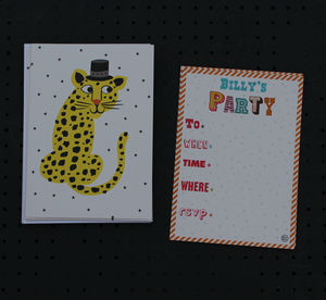 12 Childs Party Invitations Leopard Design - invitations