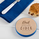 Personalised 'Bright Cider Life' Funny Alcohol Coaster