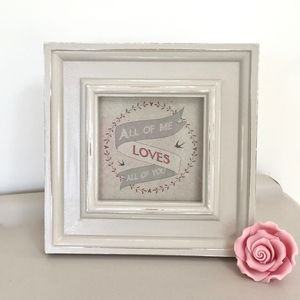 'All Of Me Loves All Of You' Vintage Framed Picture - drawings & illustrations