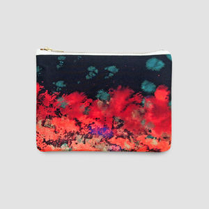 Arty Silk And Leather Pouch - desk to date fashion accessories