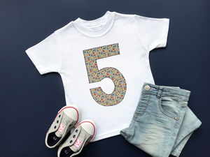 5th Birthday Appliqué Top With Liberty Of London Fabric