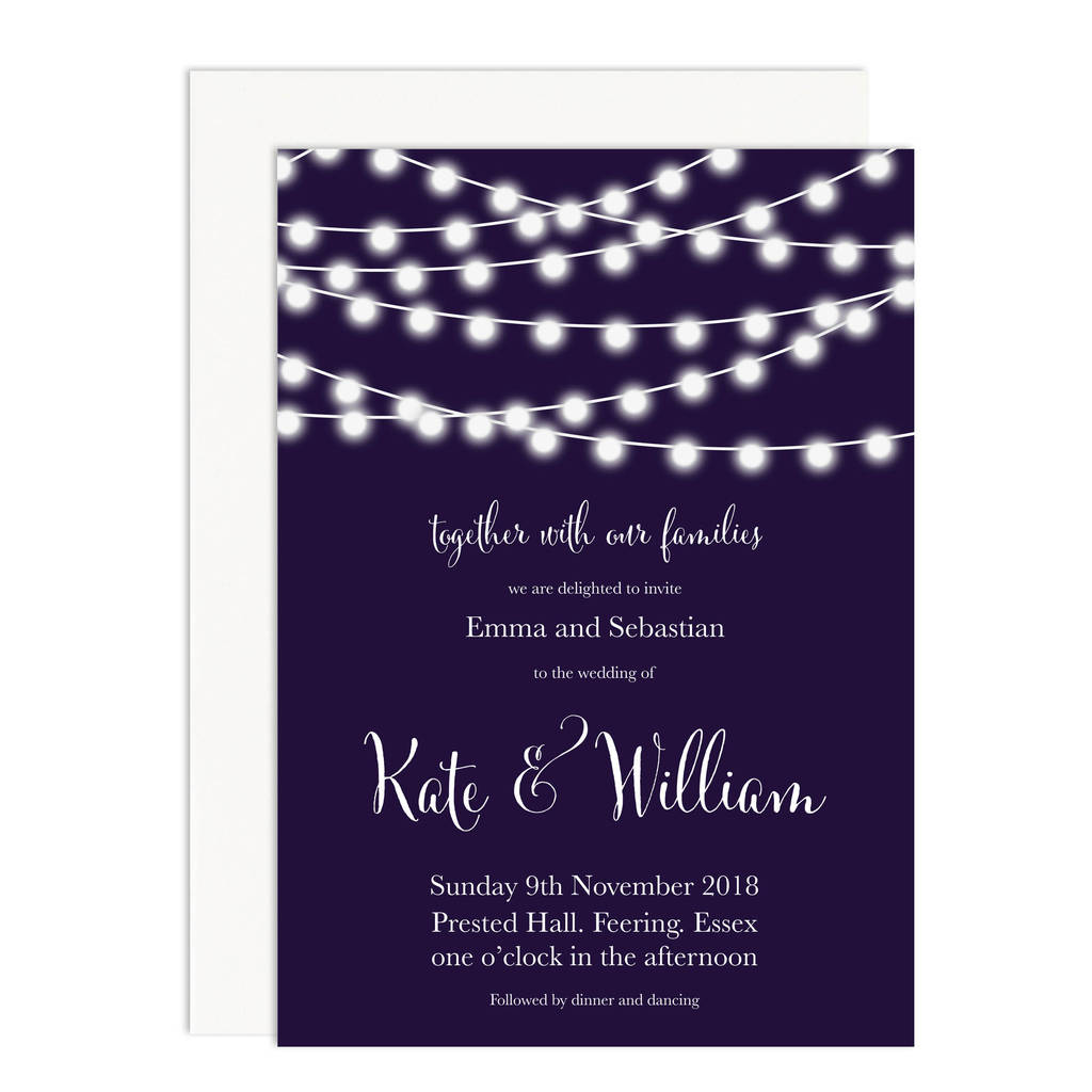 Nightgarden Wedding Invitation By Russet And Gray