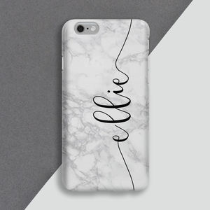 Personalised White Marble Mobile Phone Case - phone covers & cases