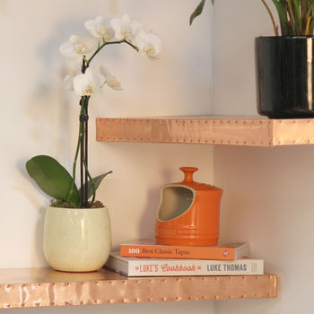 Hand Finished Copper Shelf