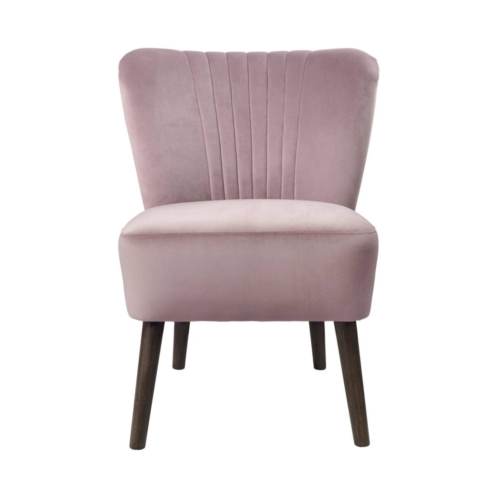 Dusky Pink Velvet Bedroom Chair By Ella James