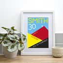 Personalised Contemporary Illustration Cycling Print