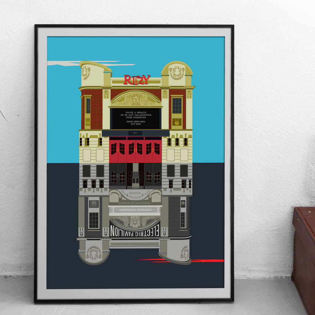 The Ritzy Cinema Illustrated Poster