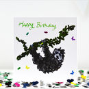 Happy Birthday Toucan Butterfly Card