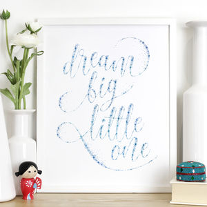 'Dream Big Little One' Nursery Print - typography