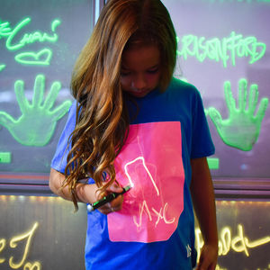 Children's Interactive Peach Glow Tshirt In Blue - clothing