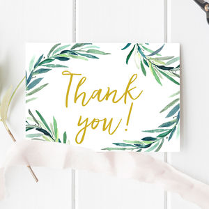 Botanical Wedding Thank You Card - wedding cards