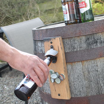 Magnetic Barrel Stave Bottle Opener