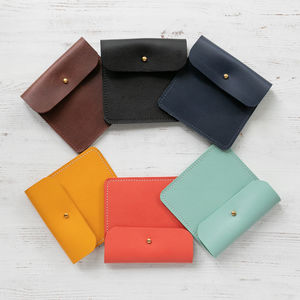 Personalised Handmade Leather Coin Purse - purses & wallets
