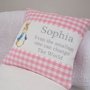 Peter Rabbit© Quote Cushion