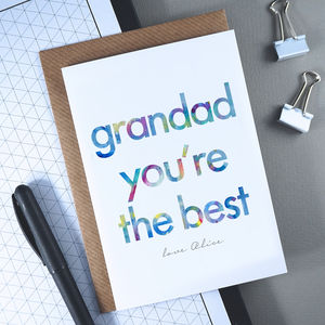 Grandad You're The Best | Personalised Birthday Card - general birthday cards
