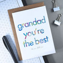 Grandad You're The Best | Father's Day Card
