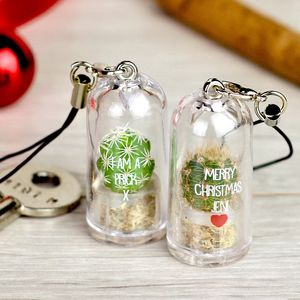 Personalised Mini Terrarium Cactus Keychain - stocking fillers