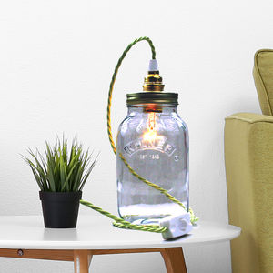 Bespoke Kilner Jar Table Lamp - bedside lamps