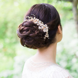 Astrid Floral Bridal Hair Vine - bridal hairpieces